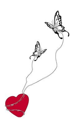 """""""... con un battito d'ali arrivò l'amore ..."""" © Alessia Brozzetti - computer grafica - 2014 www.bobonero.it"""