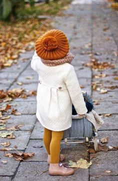 Boy these kids are stylish! Ideas for fall/winter layering toddler girl clothing. To make: Tam O'Shanter bonnet