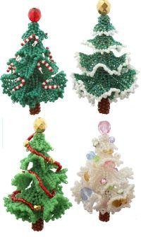 3D Beadwork Christmas Tree Ornament Bead Pattern By ThreadABead