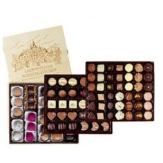 Enjoy our fine selection of 34 hand made truffel and praline specialties: 1250g