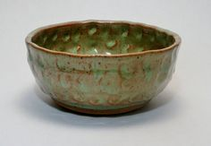 Peggy Clark Studio Pottery Hand Thrown Bowl Signed Wheel Turned & Altered American Art Ceramics for Soup or Cereal