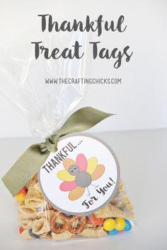 Thankful Treat Tags Free Printable - So fun for Thanksgiving!