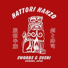 Hattori Hanzo Swords & Sushi T-Shirt - FiveFingerTees