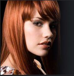 Organic hair color powder for hair coloring naturally - Modern Red Hair With Bangs, Red Bob Hair, Hair Bangs, Zooey Deschanel, Hairstyles With Bangs, Straight Hairstyles, Henna, Cabello Zayn Malik, Organic Hair Color