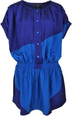 Pre-owned MARC BY MARC JACOBS Blue Silk Dress - Size M ($140)