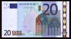 The 20 represents the next phase in european architecture.  The 20 depicts a gothic style, which was common from the 12th century to the 16th century.  The gothic is characterized by its pointed arches and flying buttresses.