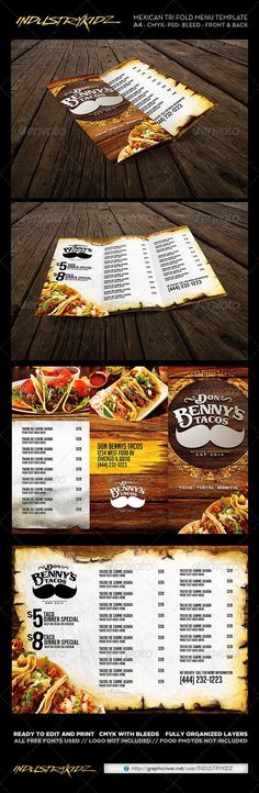 Cafe Menu Cafe menu, Menu printing and Print templates - sample cafe menu template