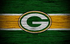 Download wallpapers Green Bay Packers, NFL, NFC, 4K, wooden texture, American football, logo, emblem, Green Bay, Wisconsin, USA, National Football League