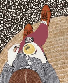 Illustration by Lieke van der Vorst Art And Illustration, Coffee Illustration, Illustrations Posters, Illustration Fashion, Street Art, Art Plastique, Oeuvre D'art, Art Inspo, Psychedelic Art