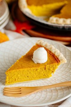 15 Japanese Desserts to Celebrate the Seasons, Kabocha Squash pie - Holiday baking is now in full swing. There will be pies, tarts, cookies, breads and sweets of all sorts. If you are looking to change things up a little or sneak in some surprises to the usual repertoire this year, you're in luck! #Kabocha #Pie #SquashPie #Kabochapie #Pumpkinpie #かぼちゃパイ#pumpkin   Easy Japanese Recipes at JustOneCookbook.com