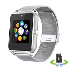 HEROVR HV09 Sweatproof Smart Watch Phone for iPhone 5s66s and 42 Android or Above SmartPhones Include 8G Micro SD Card silver * Be sure to check out this awesome product.