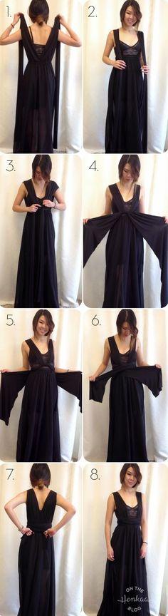 ¿Quieres saber cómo se hace un multi vestido de fiesta convertible? Es realmente sencillo, en un par de horas puedes tener hecho el tuyo.