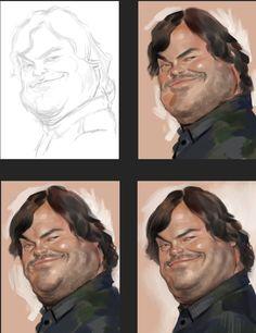 jack black caricature   네이버 블로그