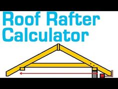 Roof Rafter Calculator will estimate the Length, Board Size, Quantity, Cost per board and Total Cost of Lumber! Use the diagram on the right to correctly enter your roof dimensions - this will help Roof Overhang, Roof Trusses, Shed Building Plans, Shed Plans, Building A Roof, Roof Sealant, Framing Construction, Construction Contract, Roof Truss Design