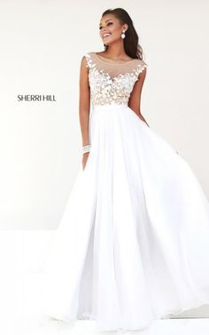 Best 2014 White Homecoming Dress By Sherri Hill 11151