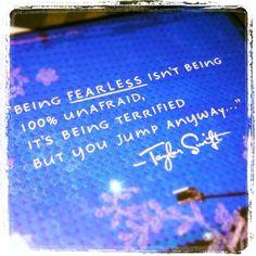Be Fearless.....Jump!  http://www.wearblueruntoremember.org
