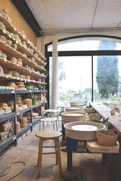 Pottery Workshop, Ceramic Workshop, Pottery Studio, Ceramic Spoons, Stoneware Mugs, Ceramic Mugs, Clay Studio, Ceramic Studio, Turkish Tiles