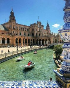Sevilla, Seville, Spain - there's row boats in seville too! Places Around The World, Travel Around The World, Around The Worlds, Places To Travel, Places To See, Voyage Europe, European Destination, Spain And Portugal, Spain Travel