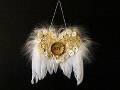 angel wing ornament