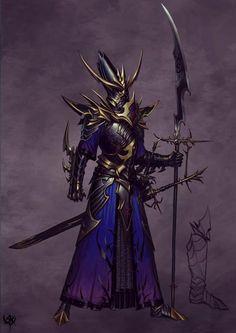 Ideas For Medieval Fantasy Art Magic Elves Dark Fantasy Art, Fantasy Battle, Fantasy Armor, High Fantasy, Medieval Fantasy, Battle Mage, Warhammer Dark Elves, Warhammer Fantasy, Les Gobelins