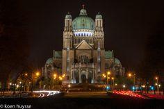 Basilica of Koekelberg, Belgium Pictures, Brussels, Belgium, Night