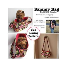 Sammy Bag Dog Sling Carrier PDF Pattern by ErinErickson on Etsy, $6.00