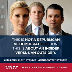 """Donald Trump Jr. on Twitter: """"This election is not about Republican vs Democrat…"""