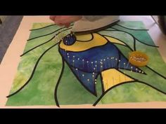 ▶ Stained Glass Appliqué using bias tape - with Deborah Wirsu - pinned from Art Quilts 101 on Facebook