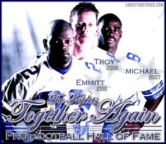 Troy Aikman, Emmitt Smith & Michael Irvin.... miss them playing!