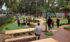 Enjoy 18 holes of Mini Golf at a European designed course for up to four players
