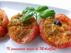 Pomodori ripieni al pesto. #ricetta di @ilpomodororosso