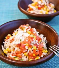 簡単メキシカンサラダ♪低カロリーで食べ応えあり☆新たまねぎたっぷり~柔らか鶏むね肉のサルサ風|レシピブログ
