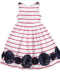 Marmellata Kids Dress, Little Girls Nautical Striped Dress