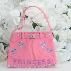 Princess and butterfly skirt purse with front and back pockets by AVCustomDesigns $25.00