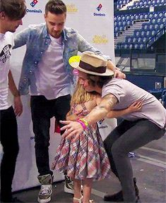 so cute i just keep watching it over and over again<<< I love jow Louis tries to get in the middle of it sooooo sweet