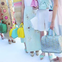 Delpozo Spring 2016 candy colored hues