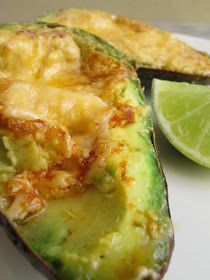 Morsels and Musings: grilled avocado w melted cheese & hot sauce