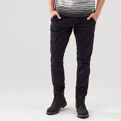 MEN`S TROUSERS, TROUSERS, schwarz, CROPP Trousers, Pants, Black Jeans, Men, Fashion, Trouser Pants, Trouser Pants, Moda, Fashion Styles