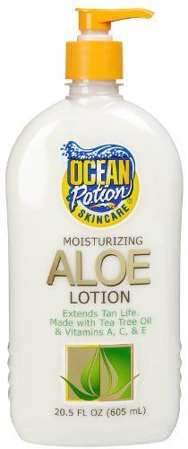 "Ocean Potion Aloe After Sun oz - ""EXTREME SUNCARE"" AFTER SUN ALOE LOTIONA Rich penetrating lotion formulated to replenish and repair skin cells after exposure to the sun and all other outdoor elements. This unique, Vitamin fortified fo Sun Lotion, After Sun, Sun Care, Tea Tree Oil, Vitamins, Sun Tanning, Beauty Products, Ocean, Healthy"