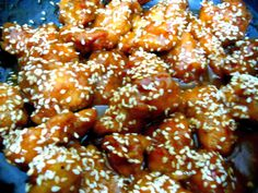 Dry Honey Chicken Tossed With Sesame Seeds
