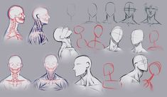 Exceptional Drawing The Human Figure Ideas. Staggering Drawing The Human Figure Ideas. Neck Drawing, Drawing Heads, Anatomy Drawing, Guy Drawing, Manga Drawing, Drawing People, Drawing Tips, Art Drawings, Face Anatomy
