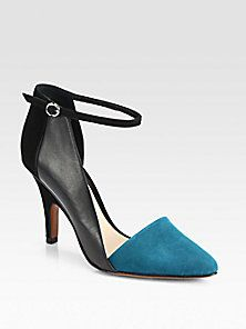 10 Crosby Derek Lam - Val Leather & Suede Ankle Strap Pumps