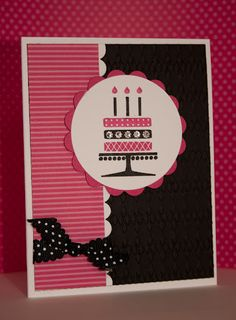 Embellished Events Birthday by Wendy Switzer - Cards and Paper Crafts at Splitcoaststampers Homemade Birthday Cards, Happy Birthday Cards, Homemade Cards, Card Birthday, Birthday Ideas, Scrapbooking, Scrapbook Cards, Pink Cards, Flip Cards