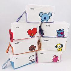 Buy Kpop Bts Bangtan Boys Official Same Canvas Cosmetic Bag Cartoon Coin Purse Storage Bag Stationery Pencil Case at Wish - Shopping Made Fun Mochila Kpop, Mochila Do Bts, Bts Army Bomb, Purse Storage, Bts Clothing, Bts Merch, Pencil Bags, Kawaii Shop, Line Friends