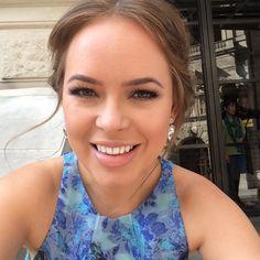 The beautiful dress again, + amazing swarowski earrings and gorgeous makeup