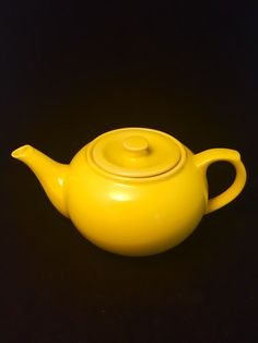 A personal favorite from my Etsy shop https://www.etsy.com/listing/267763074/yellow-teapot-vintage-teapot-ceramic