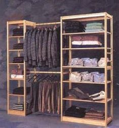 63 ideas room organization diy closet clothes - Clothes and Crafts Pallet Wardrobe, Wardrobe Closet, Closet Bedroom, Pallet Closet, Closet Doors, Wooden Closet, Wardrobe Design, Closet Designs, Diy Organization