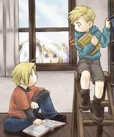 Edward Elric, Alphonse Elric and Winry Rockbell Edward Elric, Manga Anime, Anime Art, Anime Guys, Disney Marvel, Ed And Winry, Otaku, Elric Brothers, 鋼の錬金術師 Fullmetal Alchemist