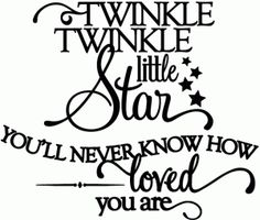 twinkle twinkle little star...