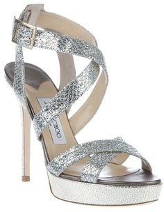 Jimmy Choo Silver Vamp Shoes
